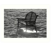 Bench In The Spring Morning Sun Art Print