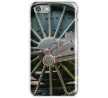Old train locomotive wheel iPhone Case/Skin