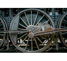 Old train locomotive wheel Photographic Print