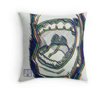 RGB Scream Throw Pillow