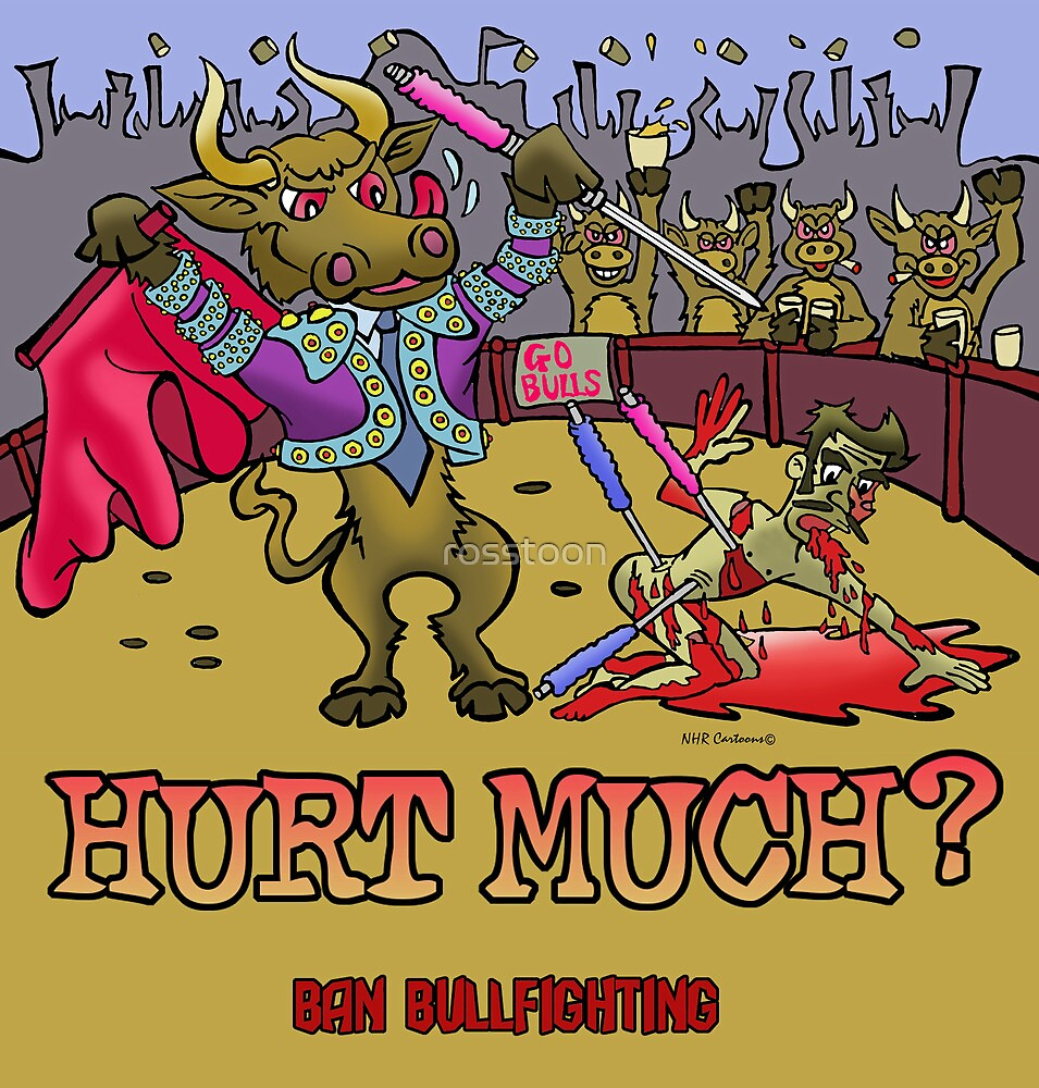 Ban Bullfighting by NHR CARTOONS .
