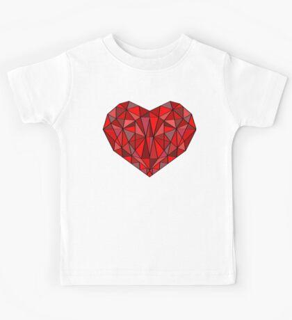 Geometric heart Kids Tee