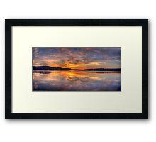 A Little Light Reflection - Narrabeen Lakes, Sydney Framed Print