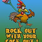 ROCKED OUT COCK. by NHR CARTOONS .