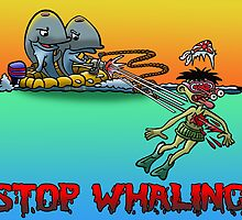 Having a whale of a time! by NHR CARTOONS .