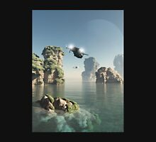 Flying Through The Sea Stacks Unisex T-Shirt