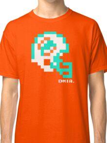 Tecmo Bowl - Miami Dolphins - 8-bit - Mini Helmet shirt Classic T-Shirt