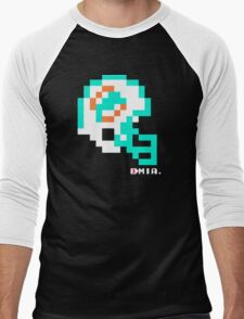 Tecmo Bowl - Miami Dolphins - 8-bit - Mini Helmet shirt Men's Baseball ¾ T-Shirt