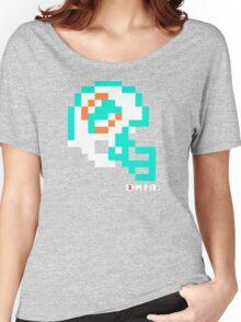 Tecmo Bowl - Miami - 8-bit - Mini Helmet shirt Women's Relaxed Fit T-Shirt