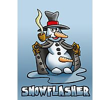 SNOWMAN FLASHER Photographic Print