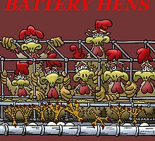 ASSAULT AND BATTERY CHICKENS by NHR CARTOONS .