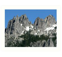 Majestic Crags Art Print