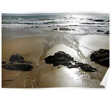 wet sand patterns Poster