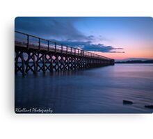 Fort Foster Pier Twilight Canvas Print