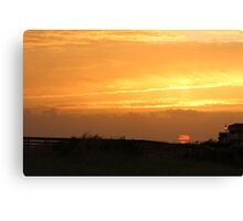 Last Day Summer Sunset Canvas Print