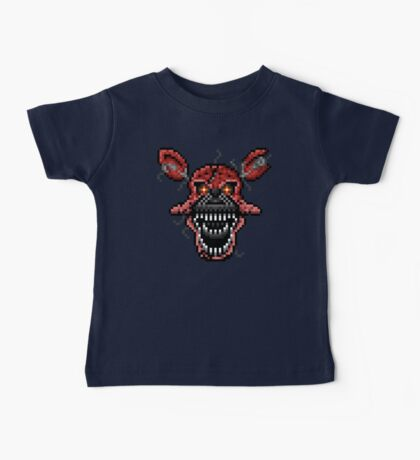 Five Nights at Freddys 4 - Nightmare Foxy - Pixel art Baby Tee