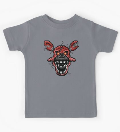 Five Nights at Freddys 4 - Nightmare Foxy - Pixel art Kids Tee