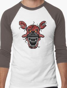 Five Nights at Freddys 4 - Nightmare Foxy - Pixel art Men's Baseball ¾ T-Shirt