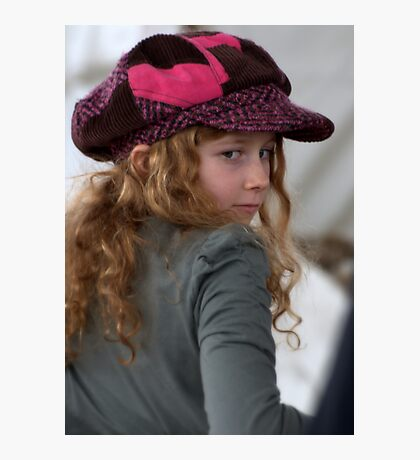 Girl with pink cap Photographic Print
