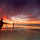 Papamoa fishing duo by Ken Wright