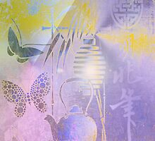 Teapot, Lamp & Butterfly. Japanese series1. by Vitta