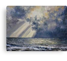 Sky and Sea French Beach Canvas Print