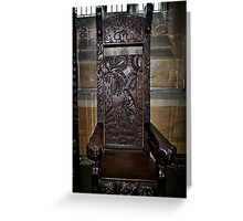Chair for Hymn Greeting Card