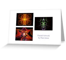 Apophysis Flame Pack Front Page Greeting Card