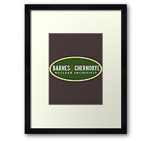 Barnes & Chernobyl - Nuclear Archivists Framed Print