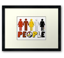 People 4 WORLD PEACE Framed Print