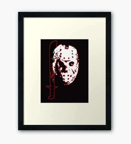 Friday the 13th - Jason Voorhees Framed Print