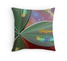 fractal birthday card personalized Throw Pillow
