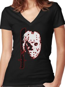 Friday the 13th - Jason Voorhees Women's Fitted V-Neck T-Shirt