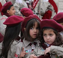 Palestinian Scouts in Ramallah by chrismercer