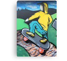 Skateboard graffiti, Meadow Lane, Birstall Canvas Print