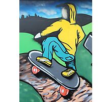 Skateboard graffiti, Meadow Lane, Birstall Photographic Print