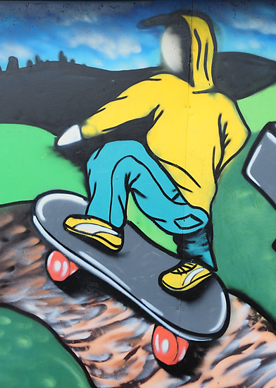 Skateboard graffiti, Meadow Lane, Birstall by James1980