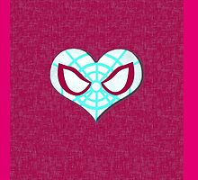Gwen Spidey Heart Case by LumpyHippo