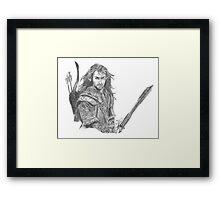 Kili (Aidan Turner) The Hobbit Framed Print