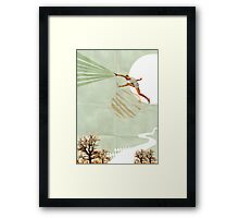 You can do it, Fine Art Collage Illustration, Athlete jumping Framed Print