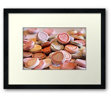 Baby, give me a taste of those suga lips! Framed Print