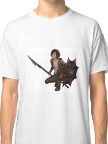 Dragon Warrior Boy - Crouching Classic T-Shirt