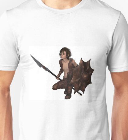 Dragon Warrior Boy - Crouching Unisex T-Shirt