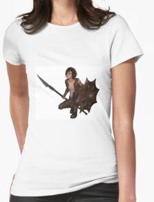 Dragon Warrior Boy - Crouching Womens Fitted T-Shirt