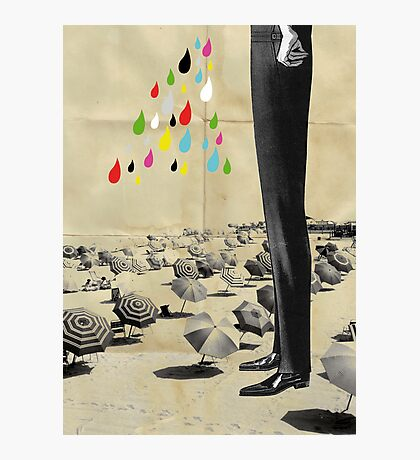 This is what happened at the beach Photographic Print