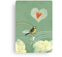 Valentine's bird Canvas Print
