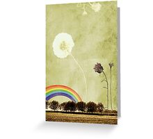 Thistle & Dandelion Greeting Card