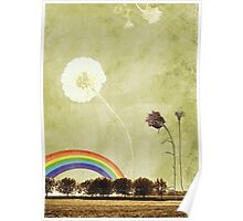 Thistle & Dandelion Poster