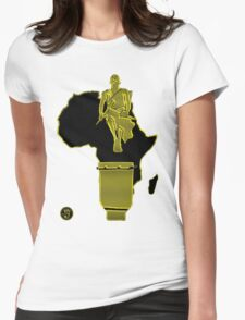 African drummer Womens Fitted T-Shirt