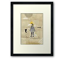 The skiproping doll Framed Print